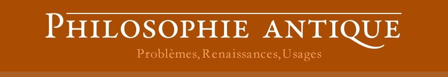 Revue Philosophie antique