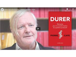 Parution «DURER». «Éléments pour la transformation du système productif» par Pierre Caye