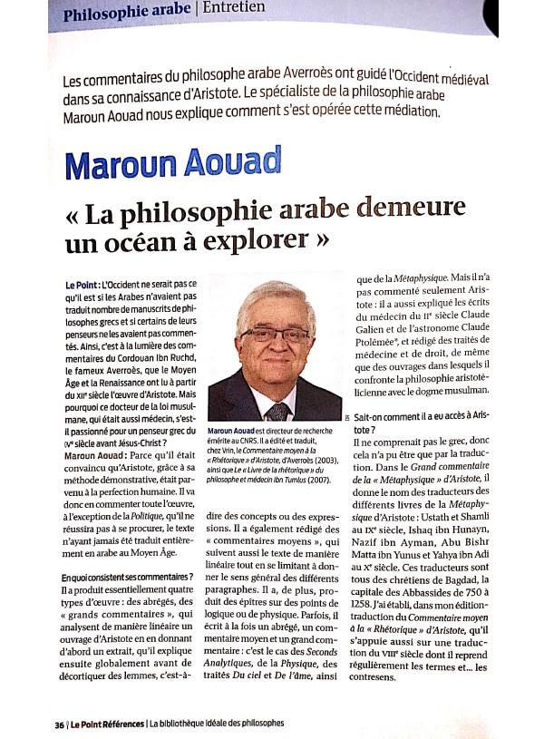 Maroun Aouad, entretien dans Le Point.