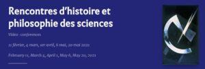 Rencontres d'histoire et philosophie des sciences