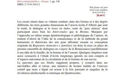 « Nova Humanistica » – 2003