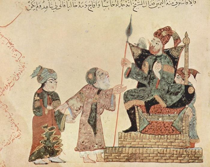 From the Maqamat of al-Hariri, by Yahyâ ibn Mahmûd al-Wâsiti.